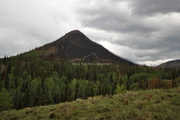 The edge of the Papoose Fire