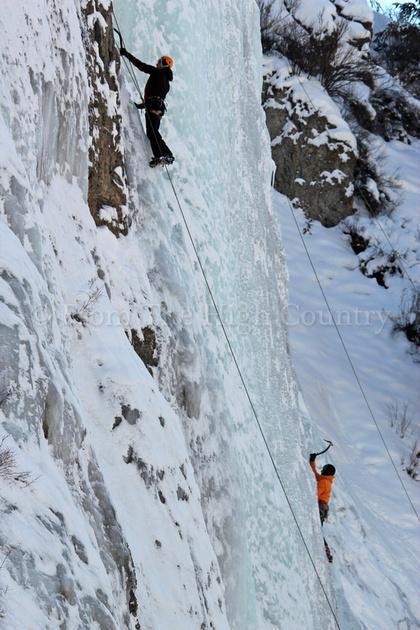 Ice climbing at Henson Creek, Lake City